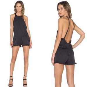 One Teaspoon Le Wolf Jumpsuit Ruffled Leg Romper